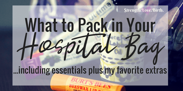 A Printable Checklist for Your Hospital Bag with Essentials plus Extras