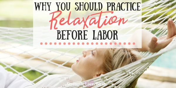 Woman practicing relaxation before labor in hammock