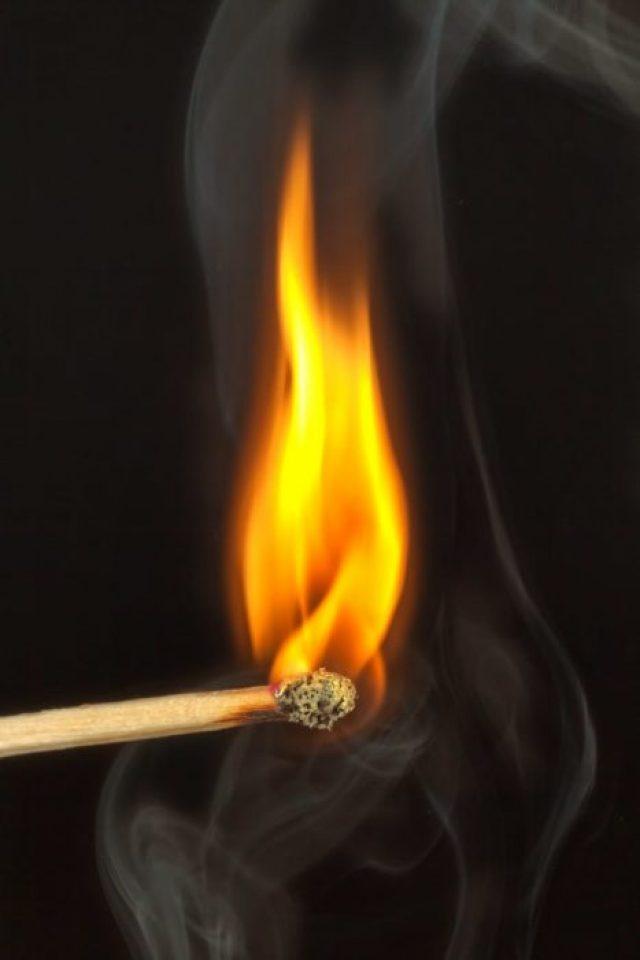 light yellow fire match