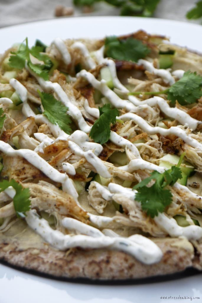 Chicken Shawarma Pita Pizza