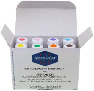 Gel paste food coloring