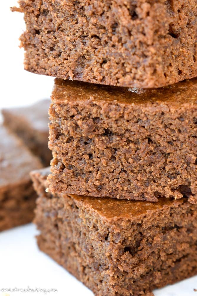 Paleo Gingerbread Bars: Soft and moist cake-like bars with that classic gingerbread flavor and scent. Paleo, gluten free, dairy free, and delicious! | stressbaking.com