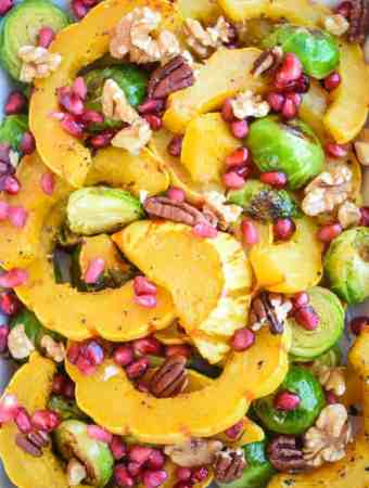 Roasted Delicata Squash and Brussels Sprouts