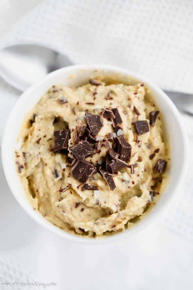 Paleo Edible Chocolate Chip Cookie Dough