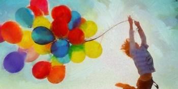 風船とジャンプ