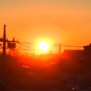 吉祥寺からの日の出です