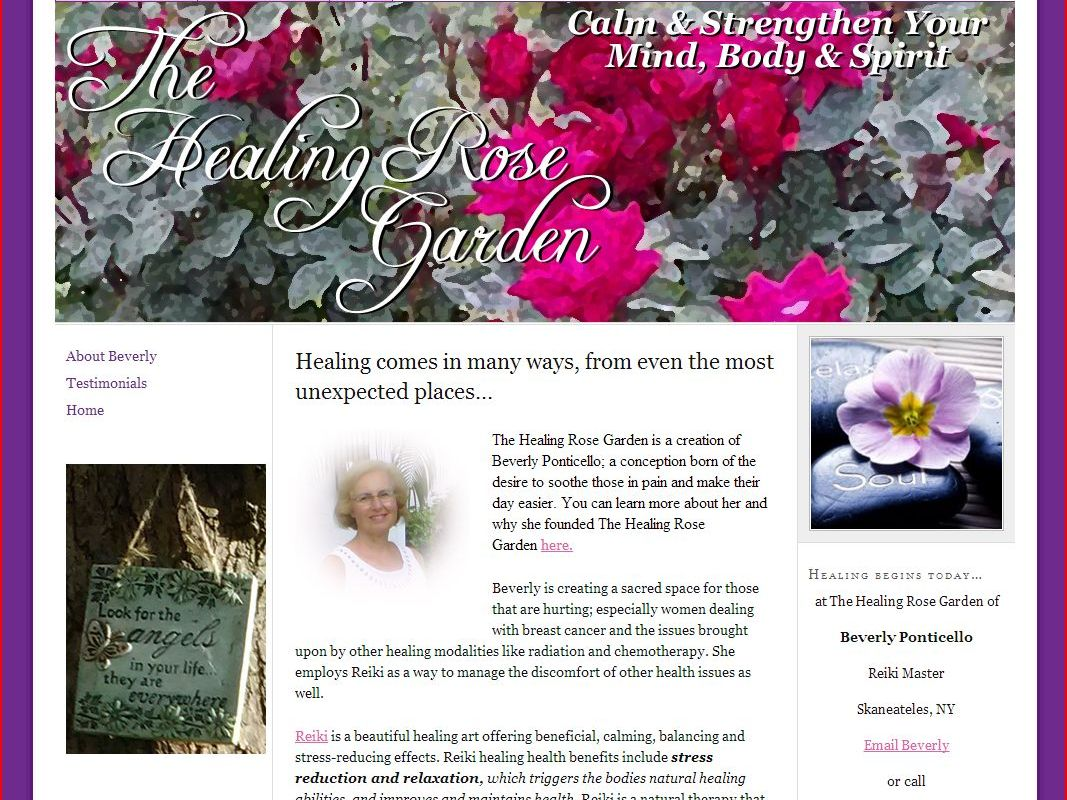 Healing Rose Garden Website