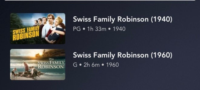Disney Movies: Swiss Family Robinson