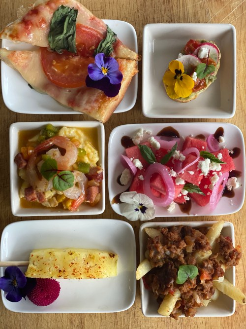 flower and garden small plates