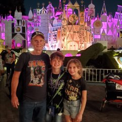 Dad addie evan night it's a small world.