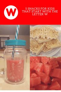 snacks that start with w, letter w snacks, alphabet snacks, snacks for kids, healthy snacks, healthy snacks for kids