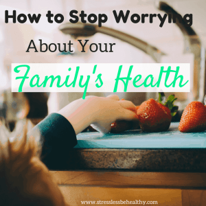 worrying about health
