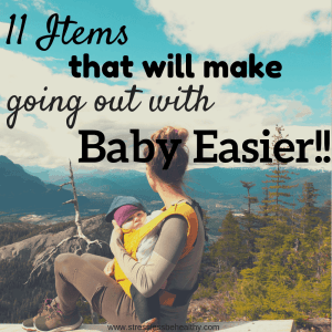 Wondering what you need to have for leaving the house with an infant? Check out these must have products for going out with baby! Checklist available!