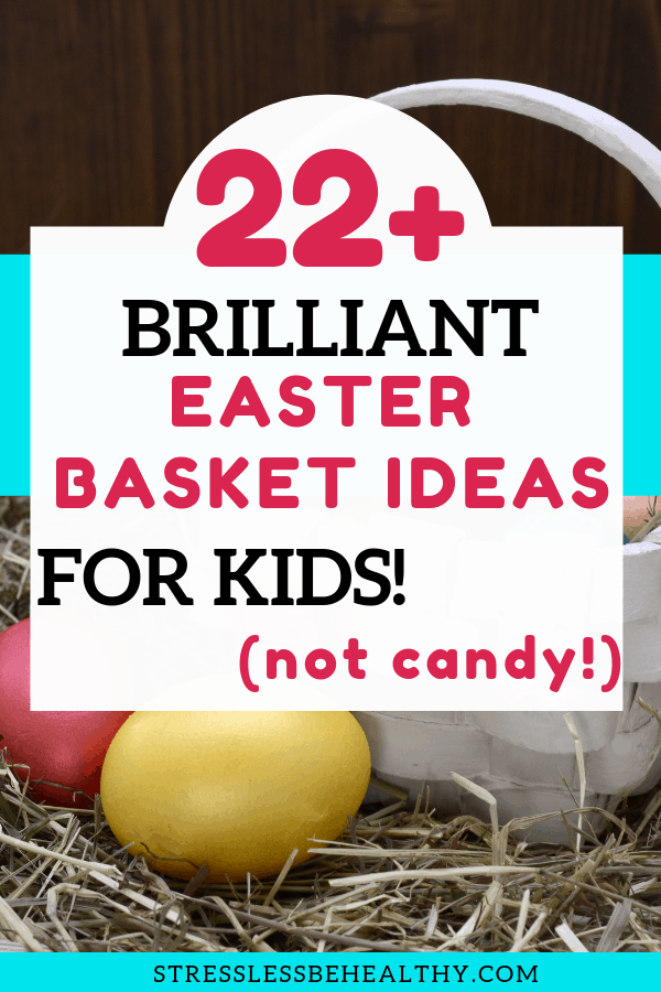 Easter basket and eggs for Easter in the spring, leads to brilliant easter basket ideas for kids that are not candy