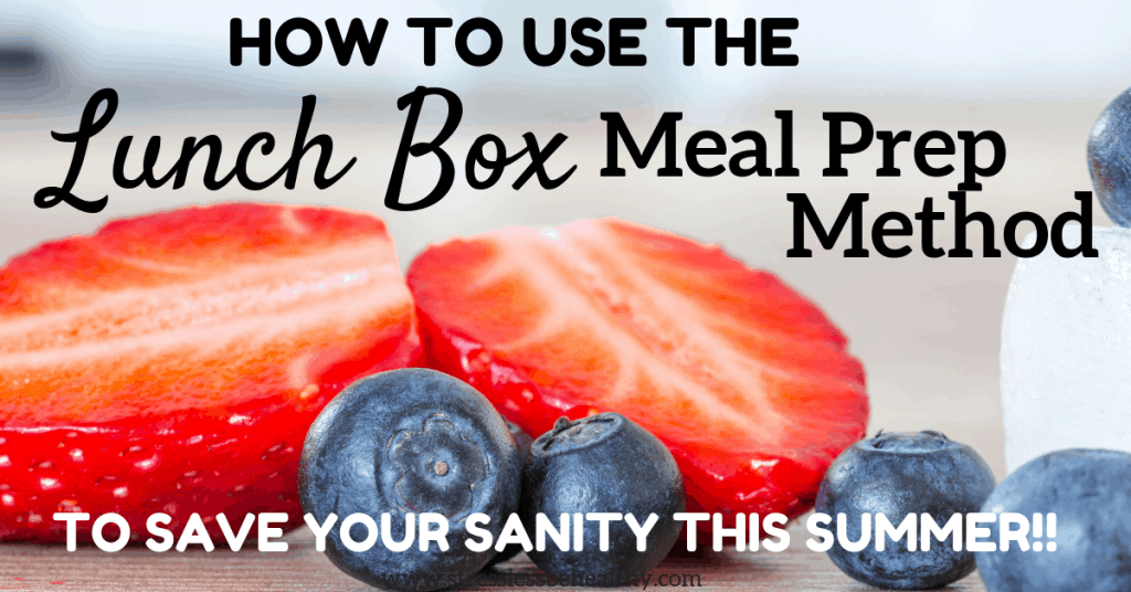 strawberries and blueberries as part of a healthy lunch using the lunch box method