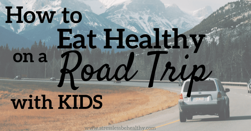 car on mountain, driving long distance, road trip, road trip with kids, how to eat on a road trip, where to eat on a road trip