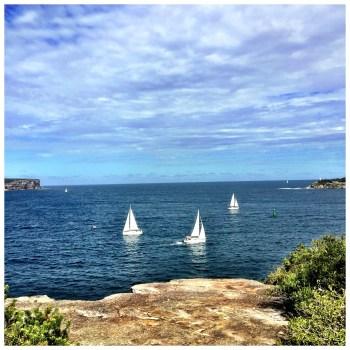 Views of North head and South Head and the Pacific Ocean Horizon