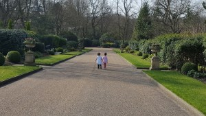 Jess and Molly walking