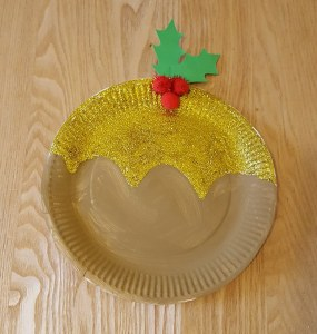 Christmas Paper Plate Crafts - Paper Plate Christmas Pudding