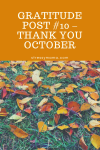Gratitude Post #10 – Thank you October
