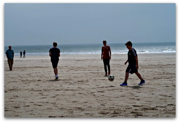Collecting Moments April Football on the Beach