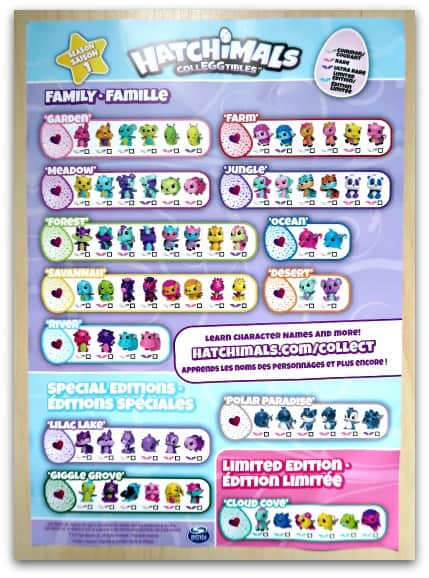 Hatchimals CollEGGtibles Collector's List