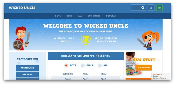 Wicked Uncle Website