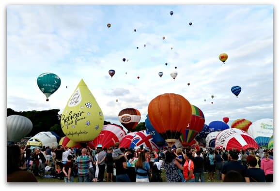 The sky is getting full at the Bristol International Balloon Fiesta 2017