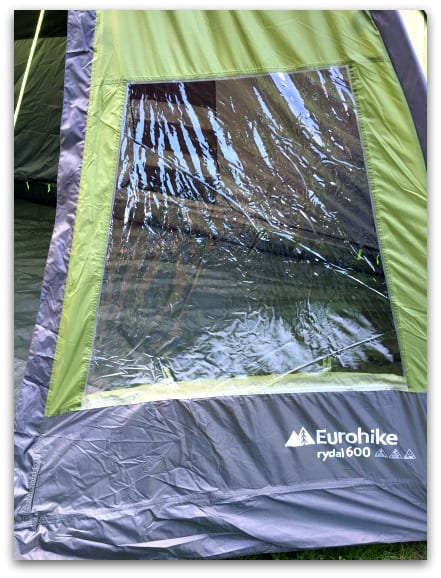 There is lots of light in the Eurohike Rydall 600 thanks to the Windows