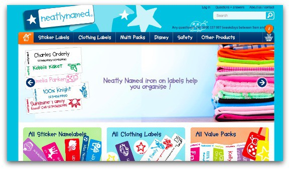 visit the Neatlynamed website to stock up on personalised name and clothing labels