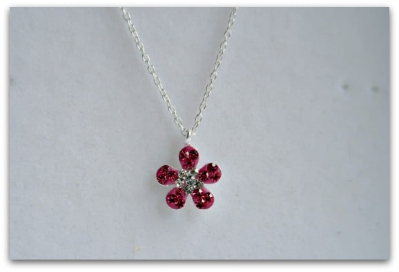 We Do Bijoux Flower - Crystal + 925 Sterling Silver Necklaces Close Up