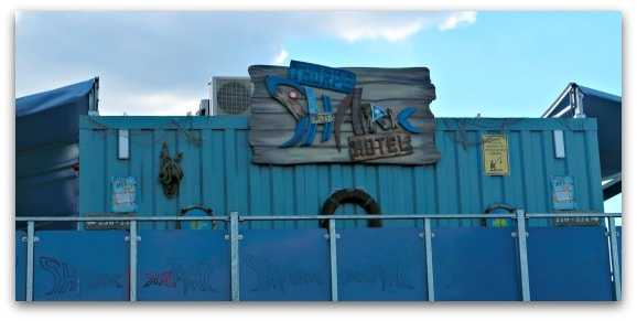 Everything about the Shark Hotel, Thorpe Park has a nautical theme