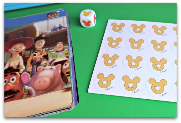 Disney Guess the Film from Jumbo Games Mickey Tokens and Dice