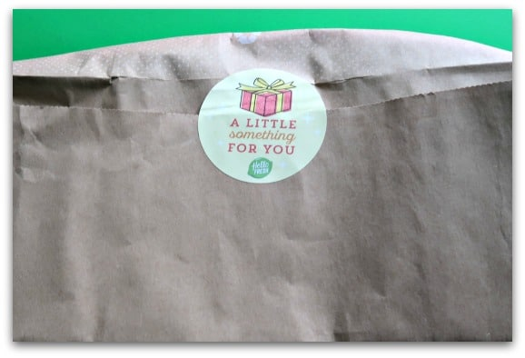 Brown paper packages from HelloFresh