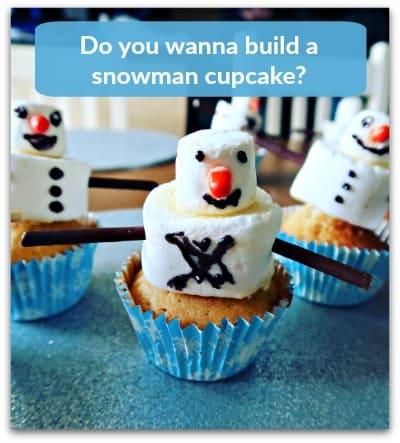 Do you wanna build a snowman cupcake