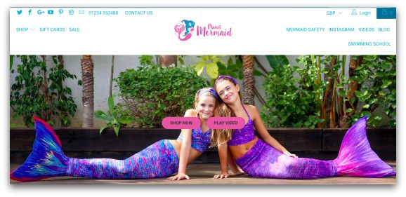 Planet Mermaid website