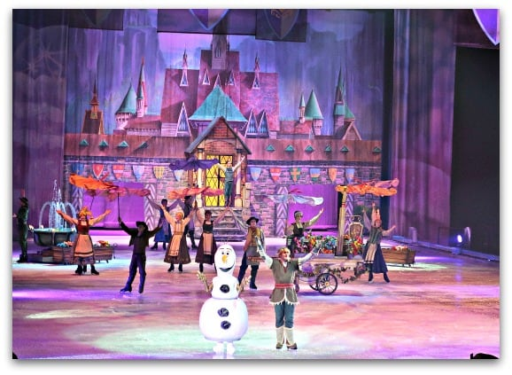 Disney On Ice Worlds of Enchantment Frozen includes lots of appearances from Olaf