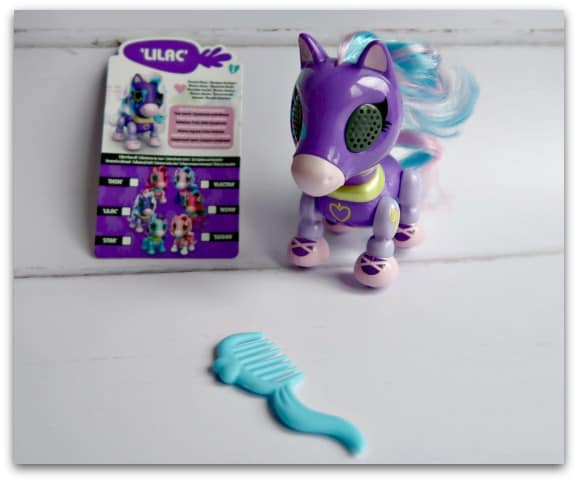 Playing with Lilac from the new Zoomer Zupps Pretty Ponies What comes in the box