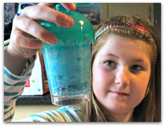 Creating Puppy Blue Sparkle Slime with So Slime DIY Slime Factory