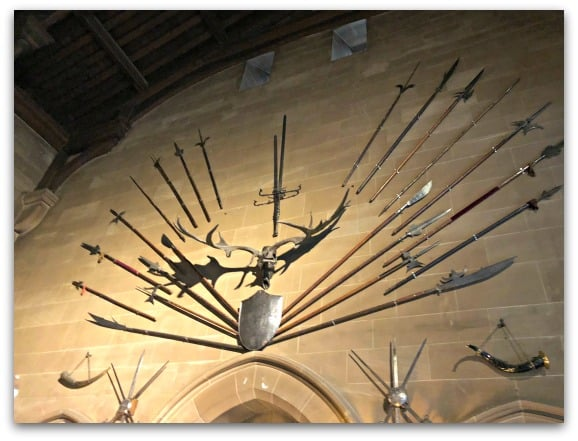 It is worth taking time to explore the interior of Warwick Castle from the impressive Weekend Party exhibition to the armour and weapons in the Great Hall, there is lots to see