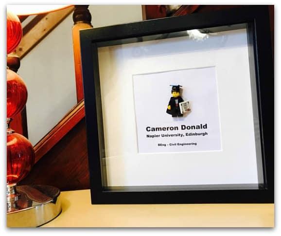 Personalised LEGO Graduation Frame
