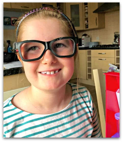 Goggles on. Using the Project Mc2 Ultimate Lab Kit