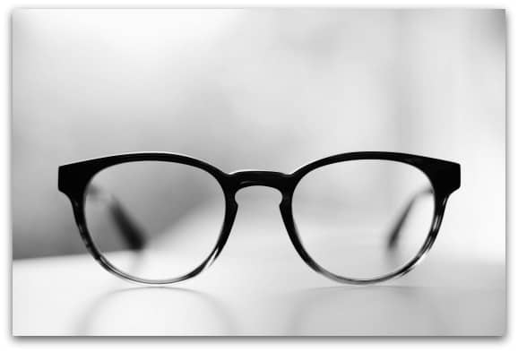 The teen, the eye tests and the glasses
