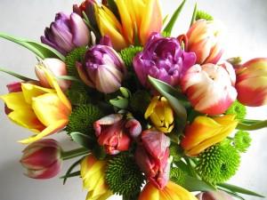 Virágcsokor lakásavatóra