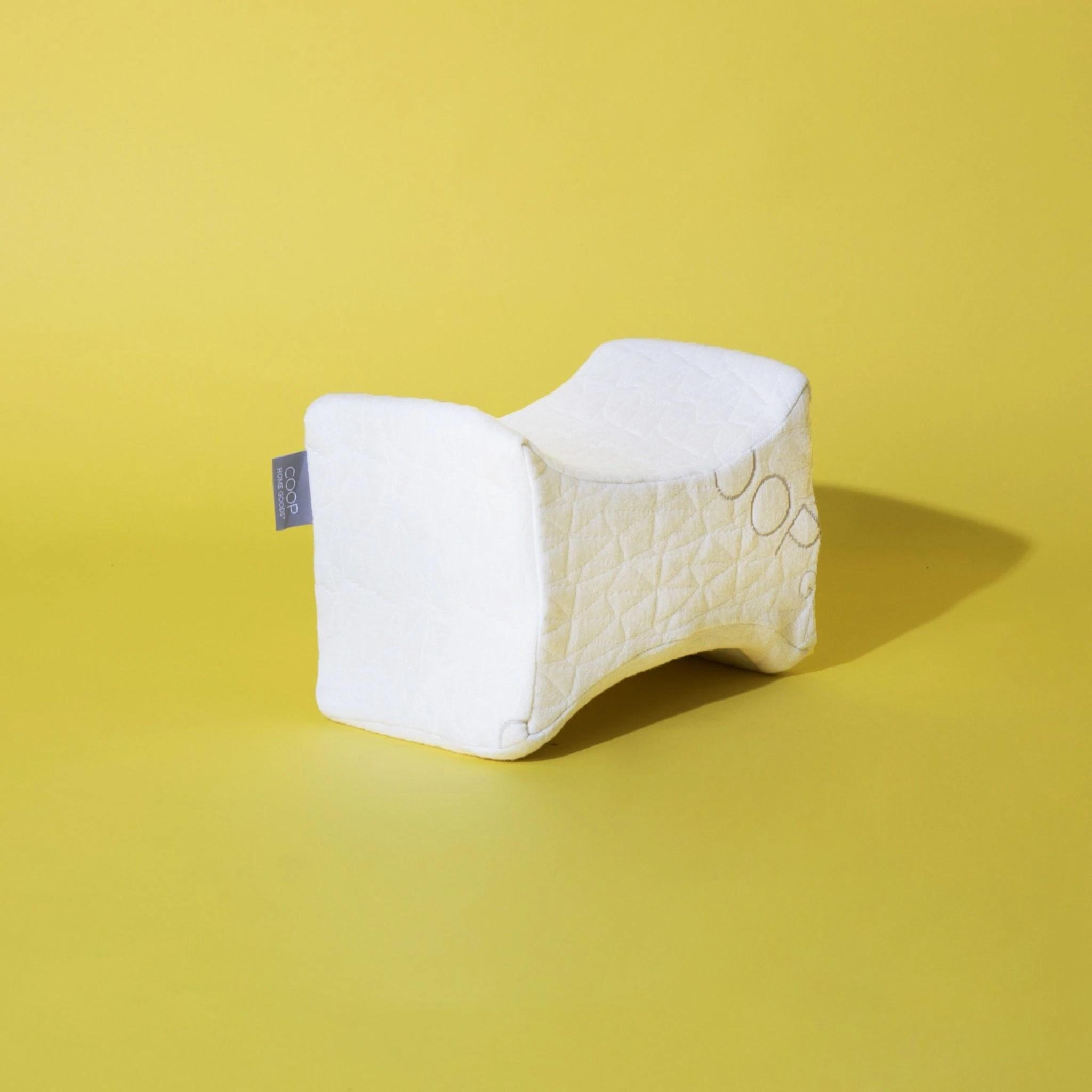 coop home goods memory foam knee pillow