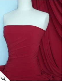 Soft Touch 4 Way Stretch Lycra Fabric- Red Wine