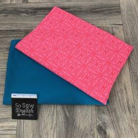 Pink Medallion/Turquoise 'Swim' fabric