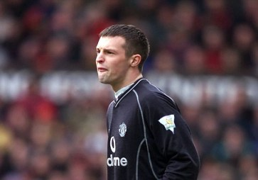 Manchester United's young keeper Paul Rachubka keeping a clean sheet against Leicester City during the FA Carling Premiership game at Old Trafford, Manchester today, Saturday 17th March 2001. Rachubka stepped in at the last minute for Fabien Barthez who was injured. **EDI** PA Photo : Phil Noble