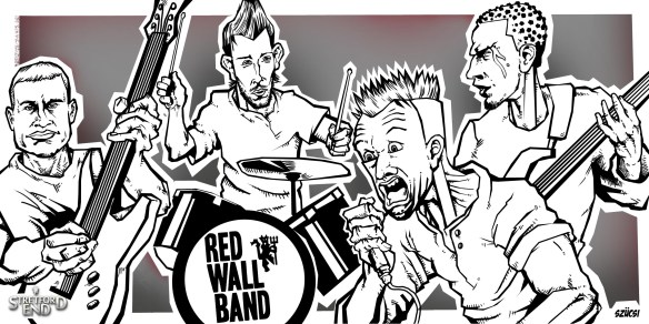 Stretford End Red Wall Band line