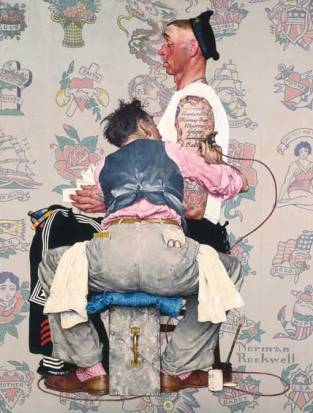 Tattoo artist, Norman Rockwell